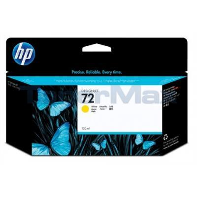 HP NO 72 INK CARTRIDGE YELLOW 130ML